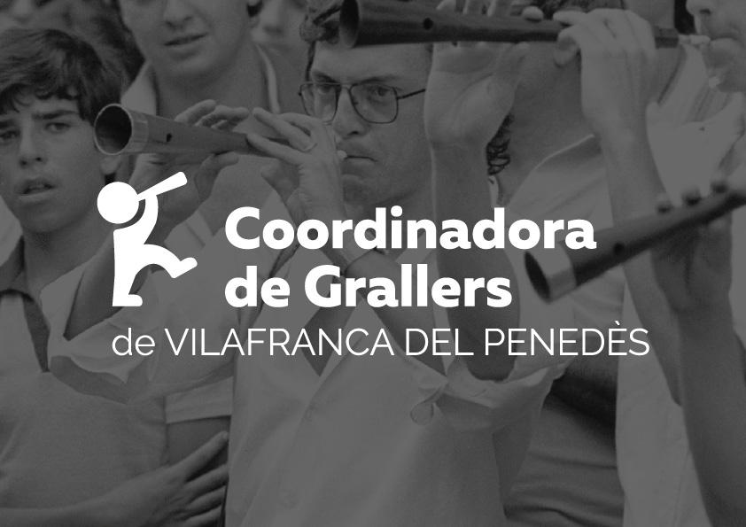Disseny Coordinadora de Grallers Vilafranca Disculpi Studio Logotip - COORDINADORA DE GRALLERS DE VILAFRANCA DEL PENEDÈS - Disseny dels logotips
