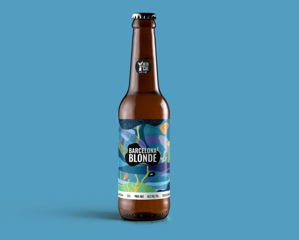 barcelona blonde beercat disculpi studio disseny grafic vilafranca penedes craftbeer 1024x822 - BEERCAT. Disseny d'etiquetes de cervesa des de Vilafranca del Penedès.