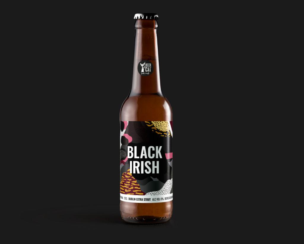 black irish beer beercat disculpi studio disseny grafic vilafranca penedes craftbeer 1024x822 - BEERCAT. Disseny d'etiquetes de cervesa des de Vilafranca del Penedès.