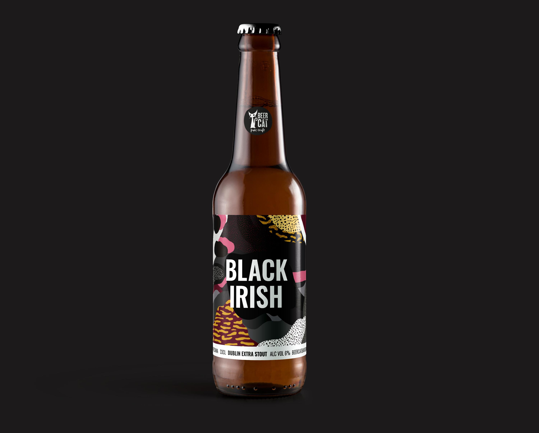 black irish beer beercat disculpi studio disseny grafic vilafranca penedes craftbeer - BEERCAT - Disseny de sis etiquetes per cerveses