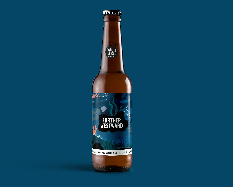 further westward beer beercat disculpi studio disseny grafic vilafranca penedes craftbeer - BEERCAT - Disseny de sis etiquetes per cerveses
