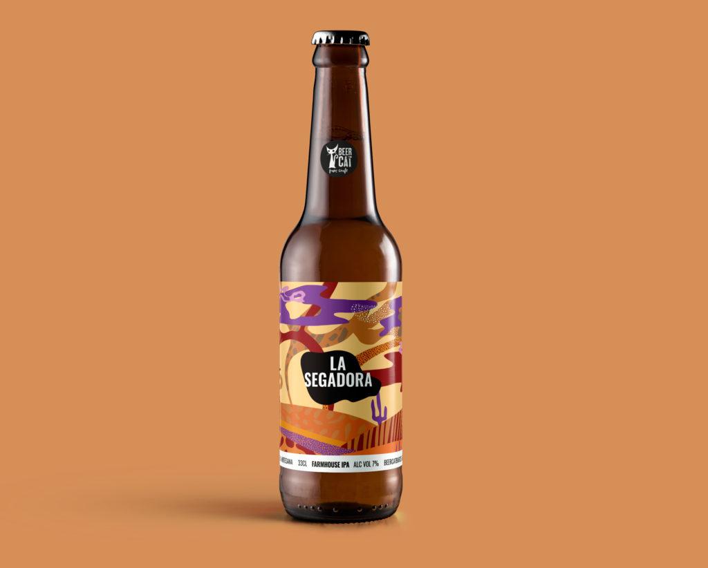 la segadora beercat disculpi studio disseny grafic vilafranca penedes craftbeer 1024x822 - BEERCAT. Disseny d'etiquetes de cervesa des de Vilafranca del Penedès.