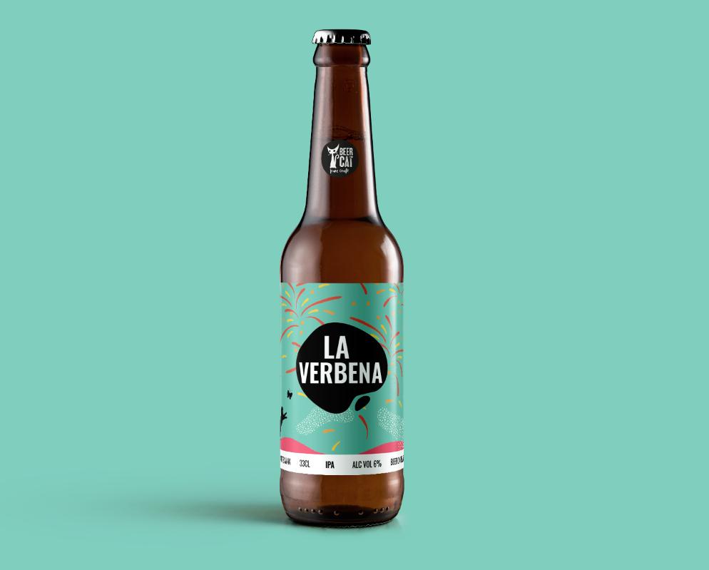 disculpi studio label design penedes disseny grafic angels pinyol verbena beercat - BEERCAT. Disseny d'etiquetes de cervesa des de Vilafranca del Penedès.