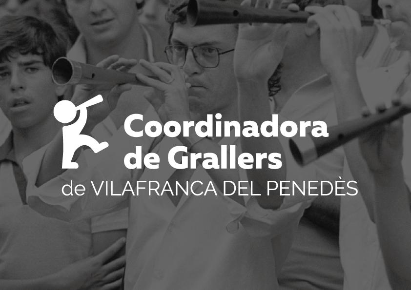 Coordinadora de Grallers Disculpi Studio Logotip Angels Pinyol - GRALLERS. Disseny branding coordinadora i dia del graller. Vilafranca del Penedès