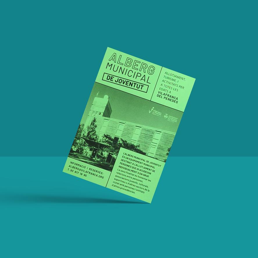 alberg municipal disseny grafic vilafranca penedes disculpi angels pinyol carla joventut 2 - DISCULPI STUDIO. Estudi de disseny gràfic i multimèdia de Vilafranca del Penedès.