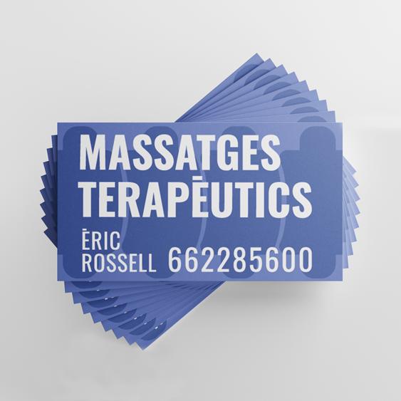 eric rossel fisio terapia disseny grafic vilafranca penedes - DISSENY TARGETES. Business cards. Vilafranca del Penedès