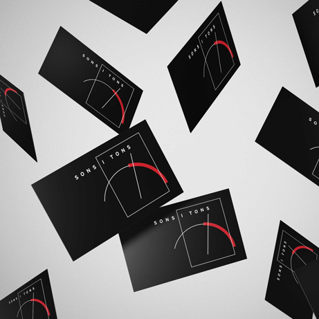 sonsitons angels pinyol logotip estudi - DISSENY TARGETES. Business cards. Vilafranca del Penedès